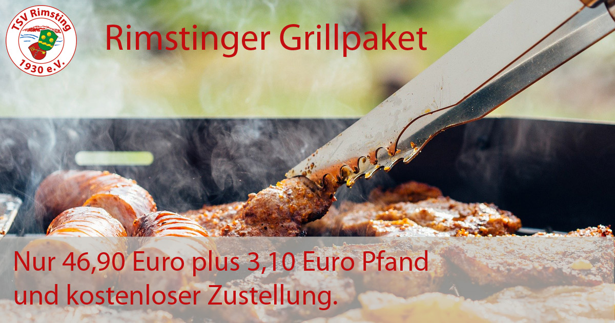 Rimstinger Grillpaket für 46, euro zzgl. 3,10 Euro Pfand